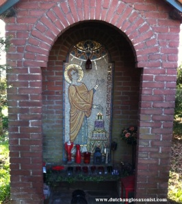 Shrine devoted to Adalbert of Egmond. Adelbertusakker, Egmond