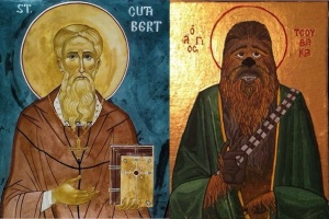 St Cuthbert (Source) and St Chewbacca (Source)