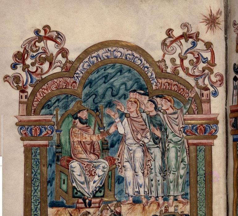 Blog.Magi3 - Rouen - BM - ms. 0274, f. 036vr magi at Herod