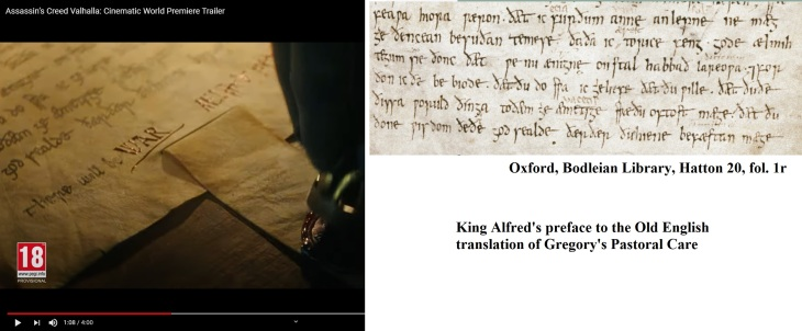 Assassins creed manuscript Alfred