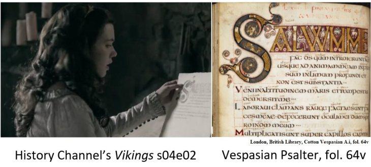 Vikings S04e02 Manuscript Vespasian Psalter