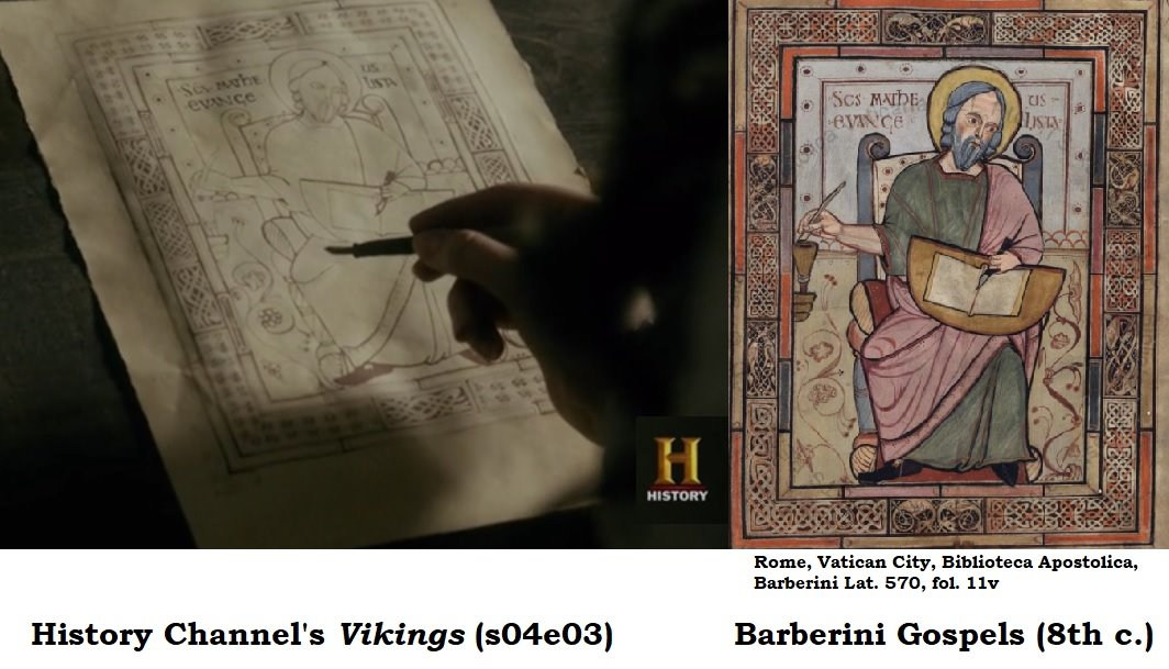Vikings S04e03 Manuscript Barberini Gospels